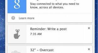 Помощник Google Now стал доступен на Mac и Windows