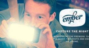 Ember: чехол с 56 яркими светодиодами для ночной съемки с iPhone [видео]