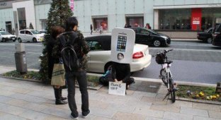 Японец занял очередь за iPhone 6 за полгода до старта продаж [фото]