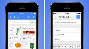 Google выпустила приложение «Google Документы» для iOS