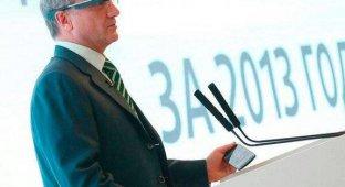 Глава «Сбербанка» выступил перед акционерами в очках Google Glass [фото]