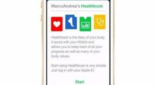 Концепт Healthbook из iOS 8 демонстрирует процесс синхронизации с часами iWatch [видео]