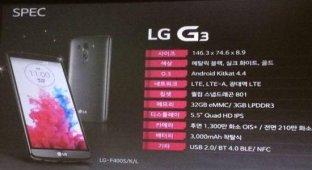Рассекречены характеристики нового флагмана LG G3