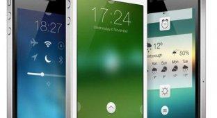 Дизайнер представил новый экран блокировки для iOS 7 с виджетами и функциональными кнопками