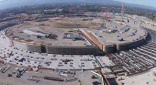 Apple Campus 2. Новое видео демонстрирует заметный прогресс в строительстве
