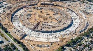 Опубликована новая аэровидеосъемка строящегося кампуса-кольца Apple