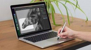 Трекпад новых MacBook превратили в графический планшет, различающий силу нажатия